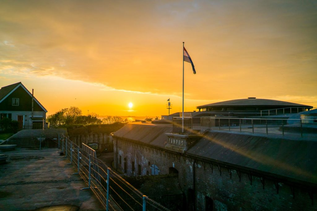 Pampus island Fort other perspective sunset beaeutiful view corporate event location venue