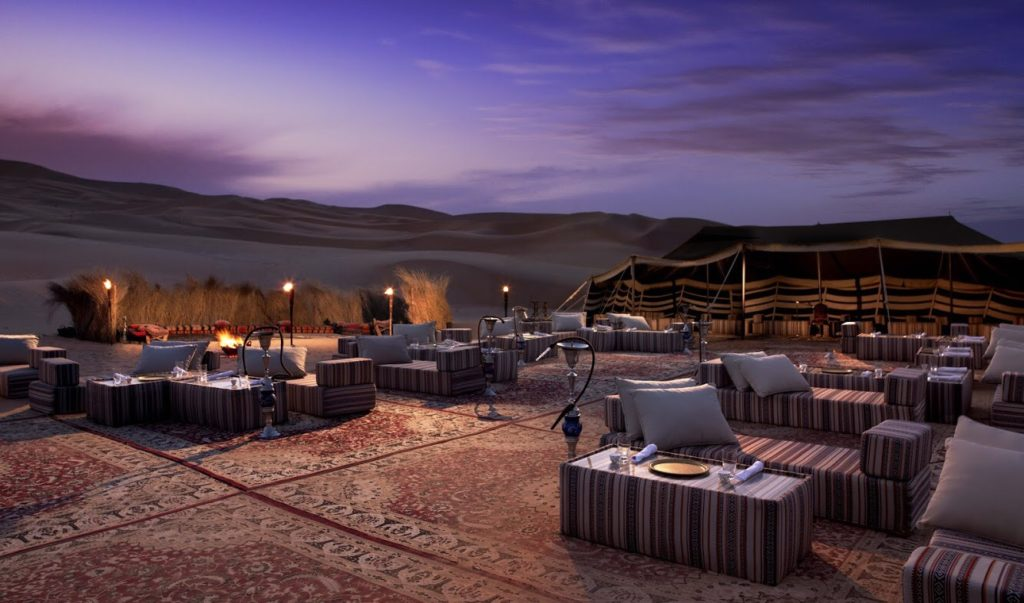 Camp desert jeep safari night beautiful view teambuilding activities event agency corporate event company trip