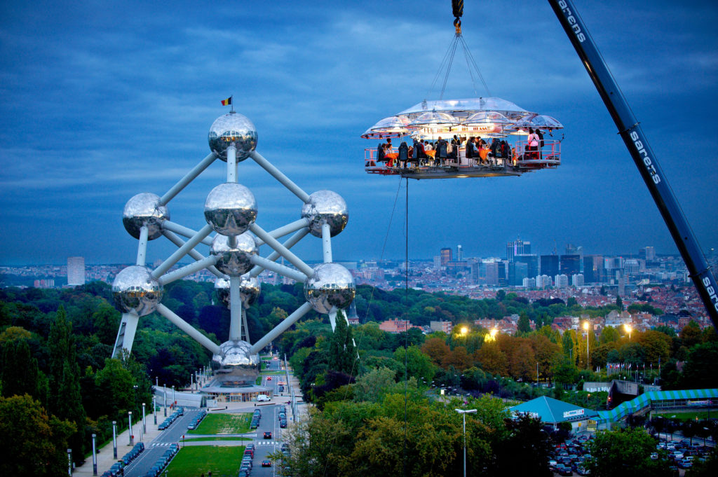 brussels atomium dinner in the sky memorable experience