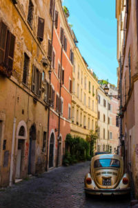 rome italy event desitnation colourful streets houses